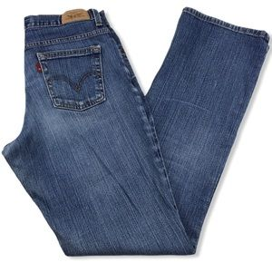 Levi's Relaxed Bootcut 550 Blue Denim Jeans 4